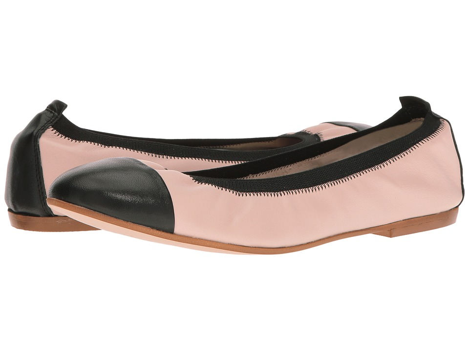 Massimo Matteo - Ballerina with Gore (Nude/Black) Women's Flat Shoes
