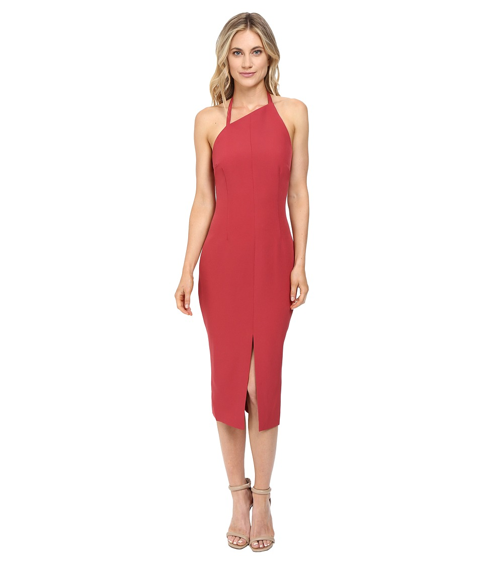KEEPSAKE THE LABEL - Walk the Wire Midi Dress (Red Ochre) Women's Dress