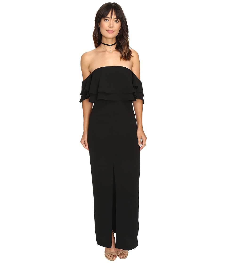 KEEPSAKE THE LABEL - Two Fold Maxi Dress (Black) Women's Dress