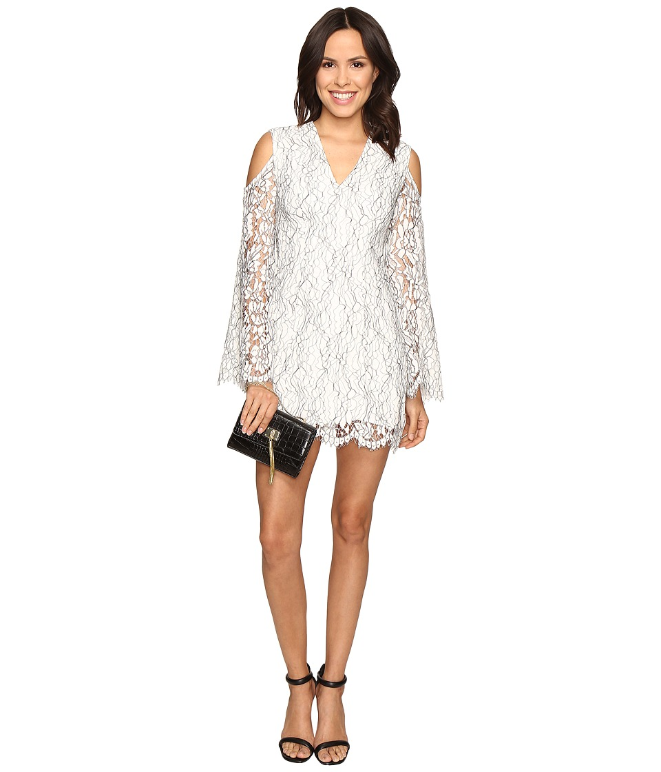KEEPSAKE THE LABEL Porcelain Long Sleeve Lace Dress (Ivory) Women