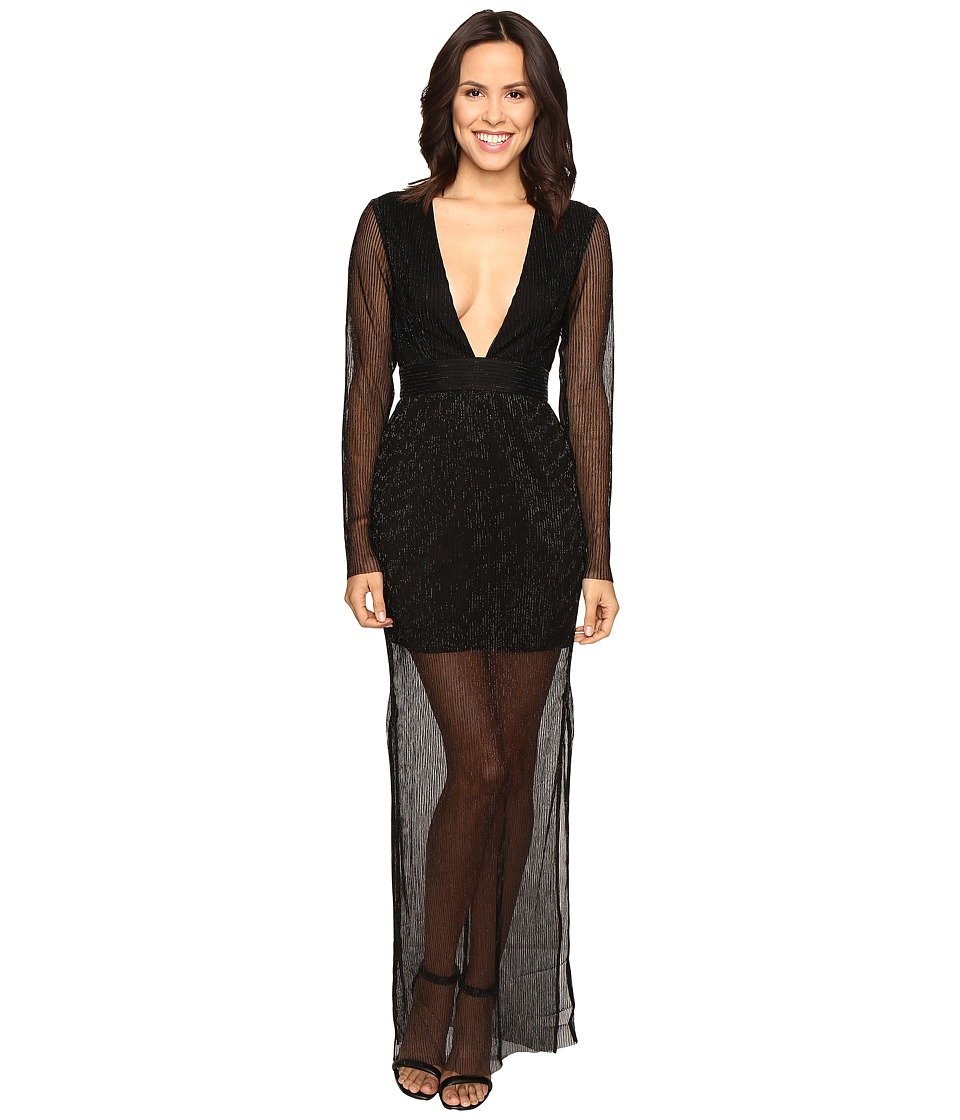 KEEPSAKE THE LABEL - Step Down Maxi Dress (Black) Women's Dress