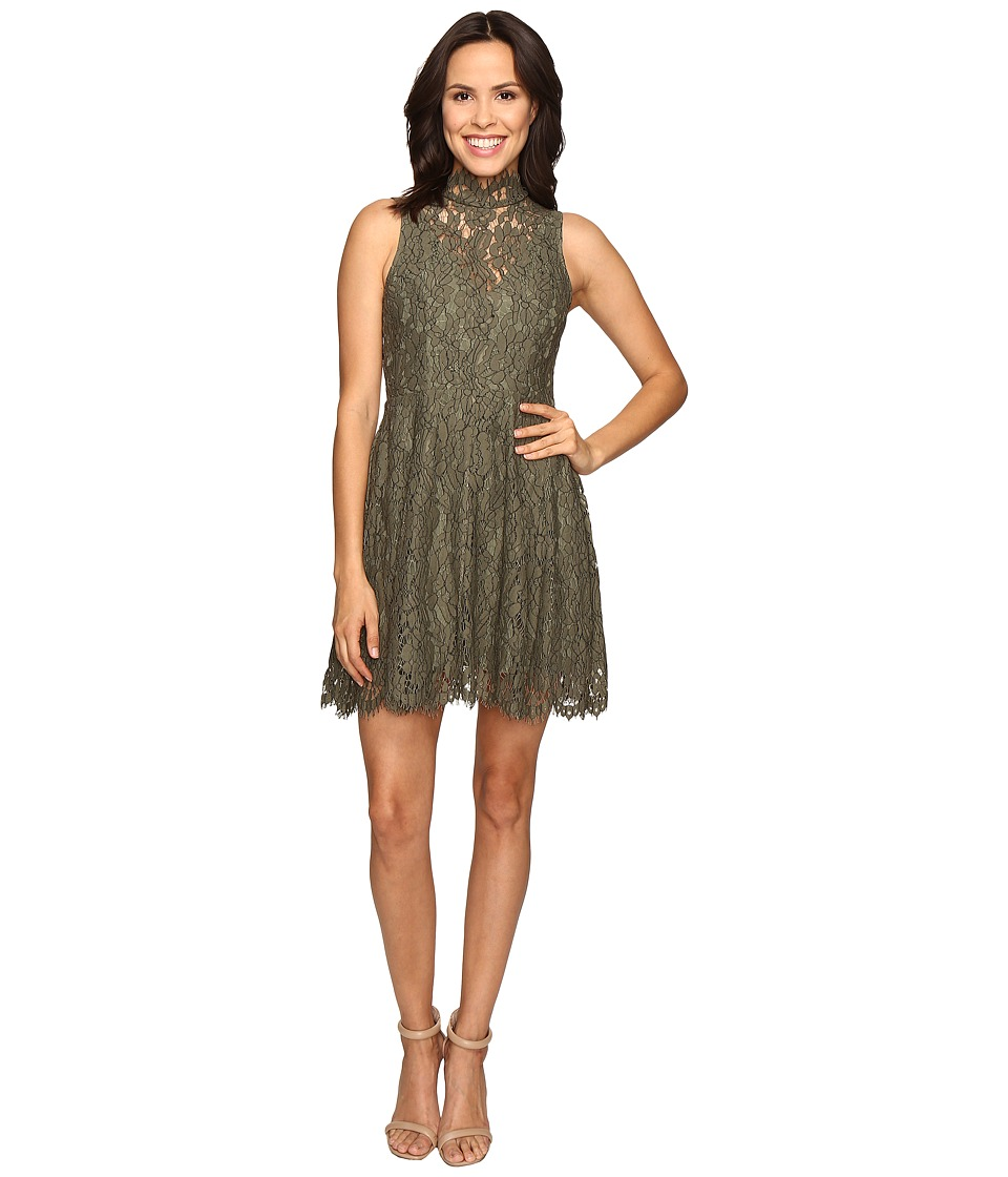 KEEPSAKE THE LABEL - Porcelain Lace Dress (Khaki) Women's Dress