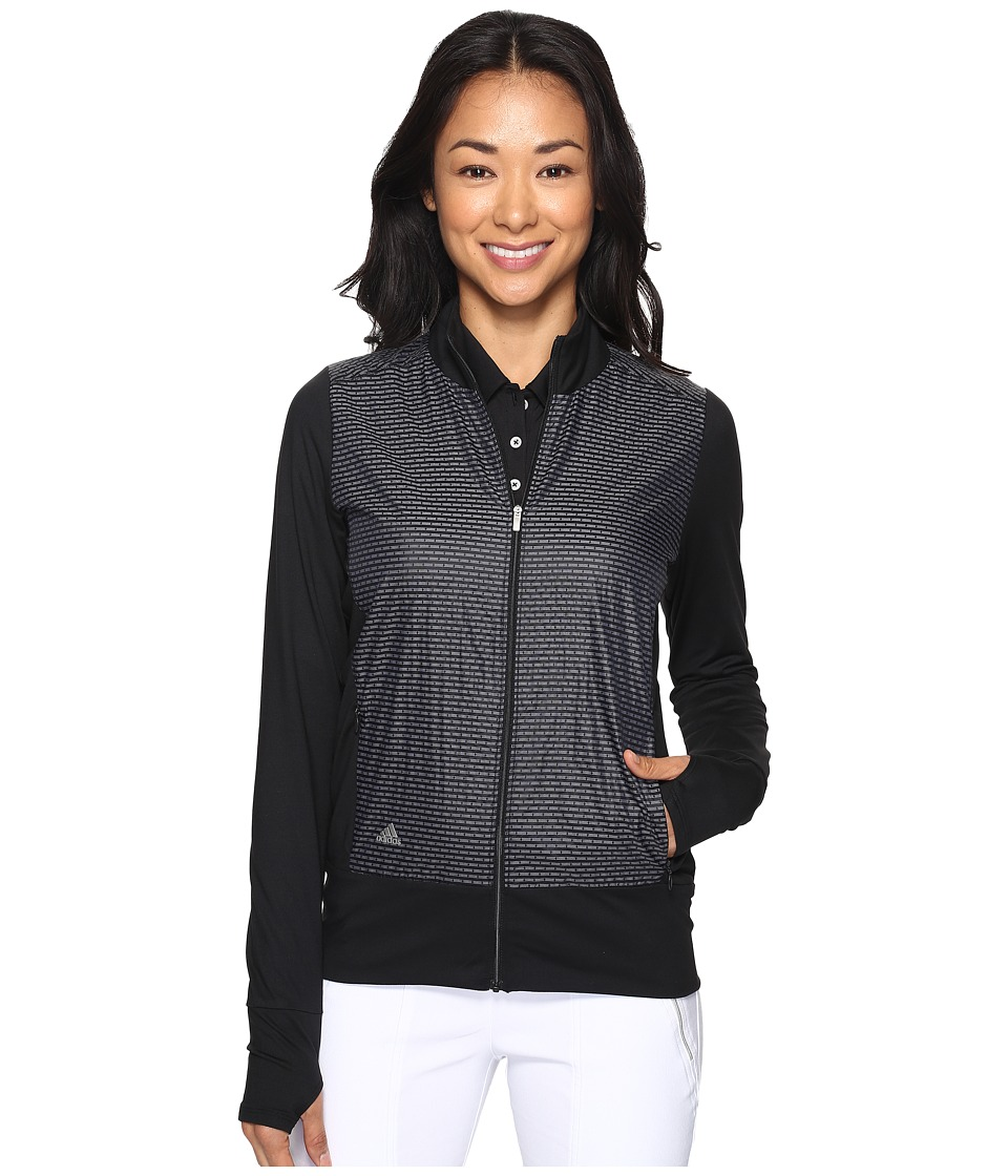 adidas Golf - Technical Lightweight Wind Jacket (Black/White) Women's Coat