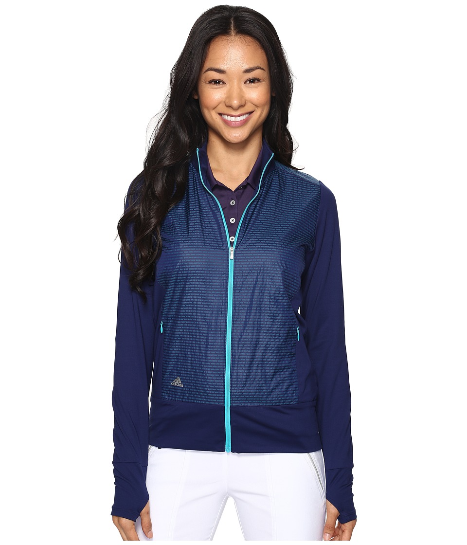 adidas Golf - Technical Lightweight Wind Jacket (Night Sky/Energy Blue) Women's Coat
