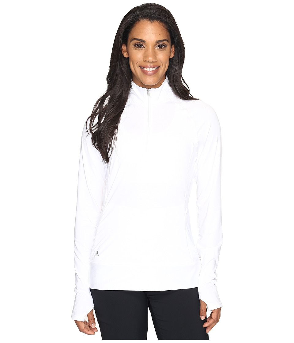 adidas Golf - Rangewear 1/2 Zip (White) Women's Long Sleeve Pullover