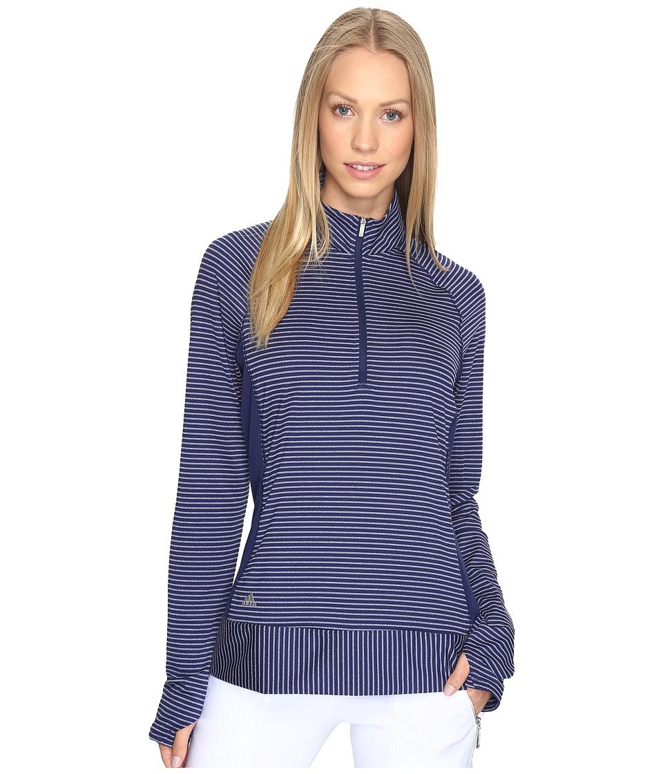 adidas Golf - Rangewear 1/2 Zip (Night Sky) Women's Long Sleeve Pullover
