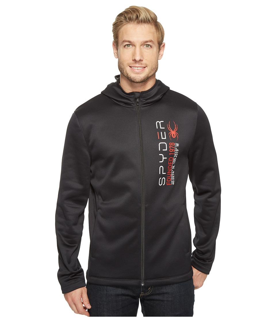 Spyder - Highlands Full Zip Hoodie (Black) Men's Sweatshirt
