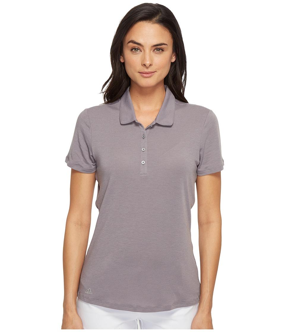 adidas Golf - Rangewear Short Sleeve Polo (Trace Grey/Light Heather Grey) Women's Short Sleeve Pullover