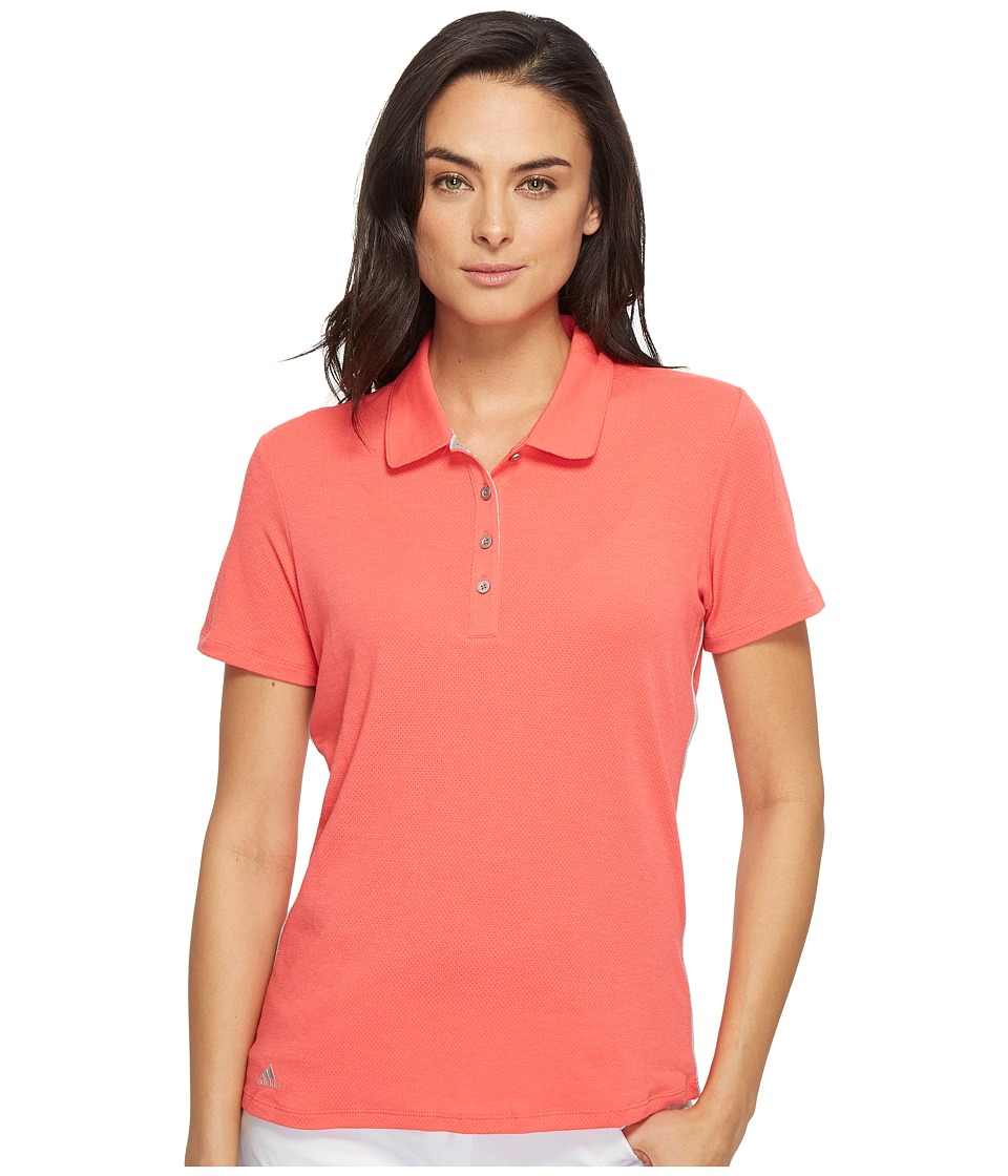 adidas Golf - Rangewear Short Sleeve Polo (Core Pink) Women's Short Sleeve Pullover