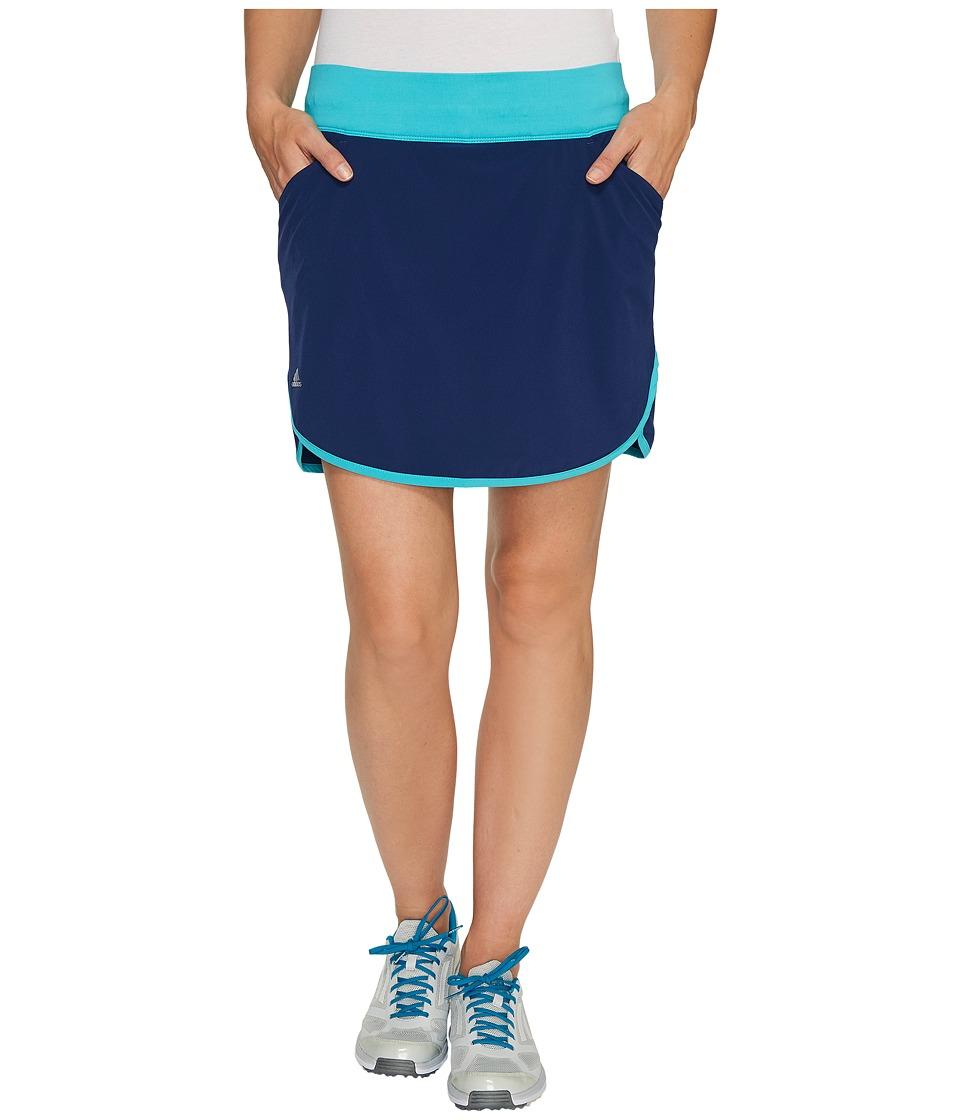 adidas Golf Rangewear Fashion Skort (Energy Blue/Night Sky) Women