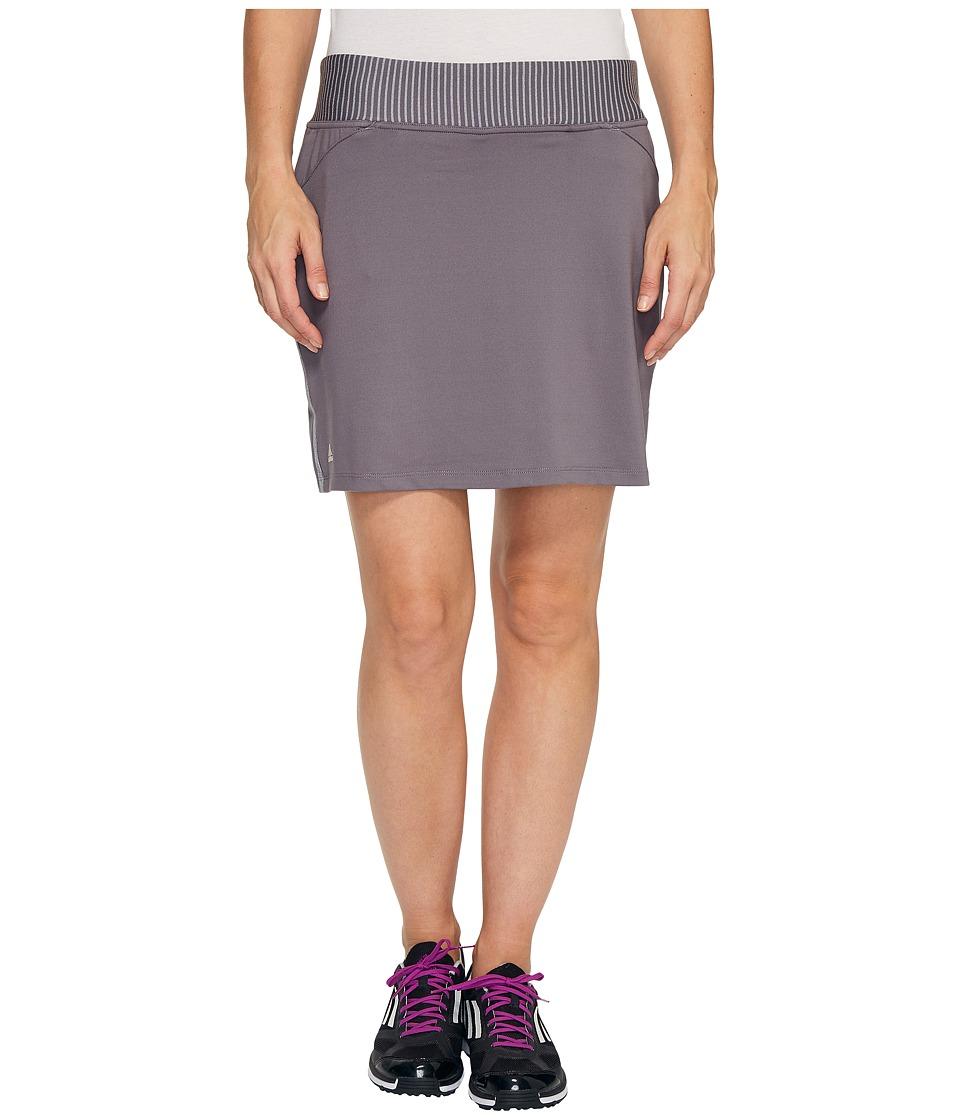 adidas Golf Rangewear Skort (Trace Grey) Women