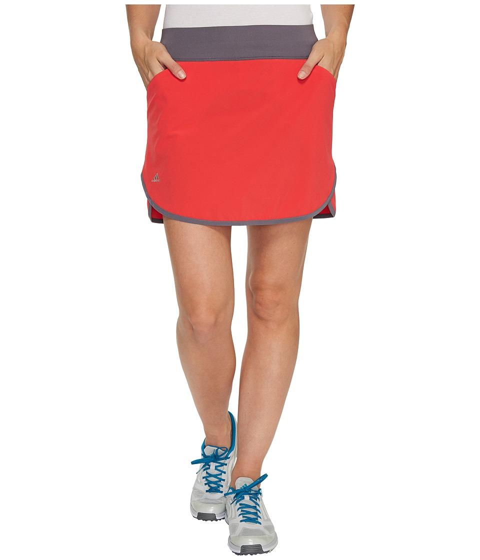 adidas Golf - Rangewear Fashion Skort (Core Pink/Trace Grey) Women's Skort
