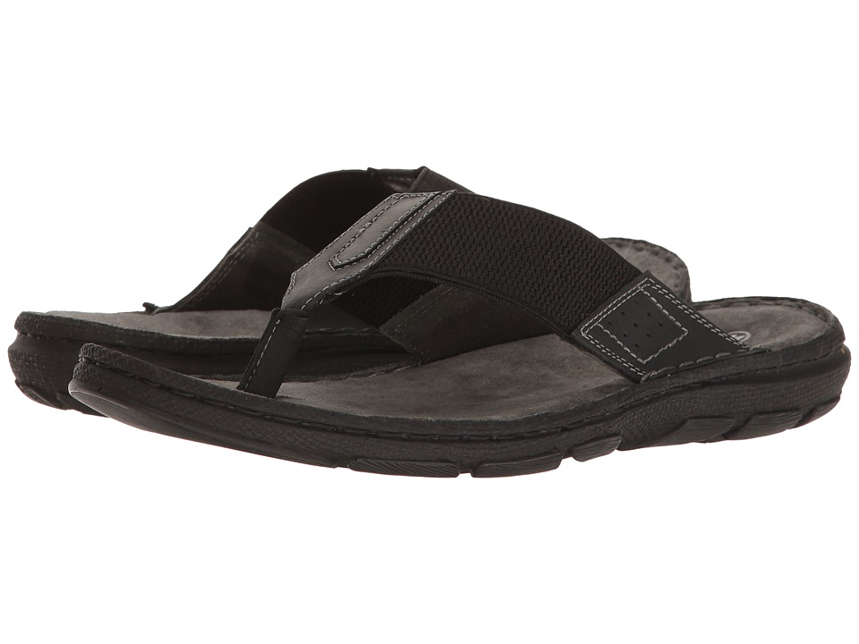 Lotus - Sebastian (Black Leather/Textile) Men's Sandals