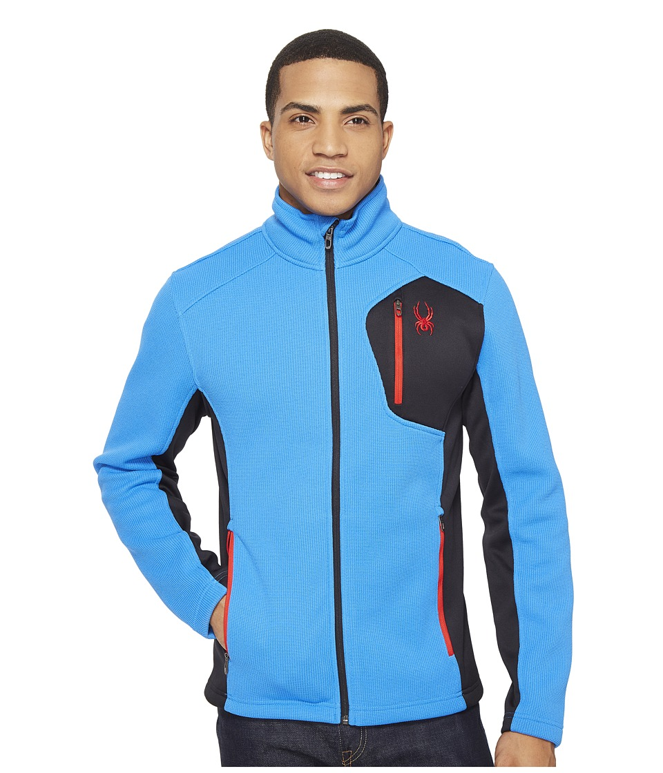 Spyder - Bandit Full Zip Fleece Top (French Blue/Black/Red) Men's Fleece