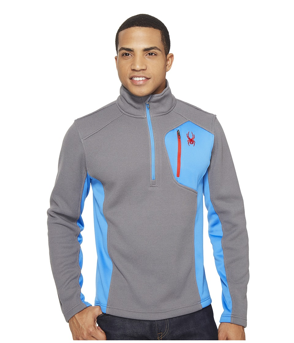 Spyder - Bandit 1/2 Zip Fleece T-Neck (Image/French Blue/Red) Men's Fleece