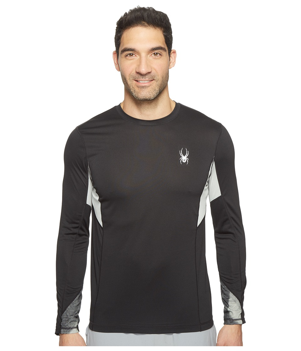 Spyder - Alphs Long Sleeve Tech Tee (Black/Carbon Halftone) Men's Long Sleeve Pullover