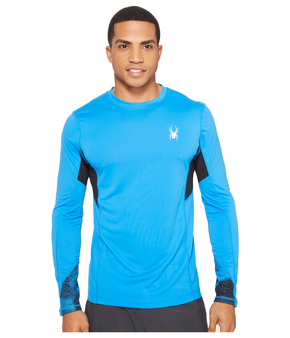 Spyder - Alphs Long Sleeve Tech Tee (French Blue/French Blue Halftone) Men's Long Sleeve Pullover
