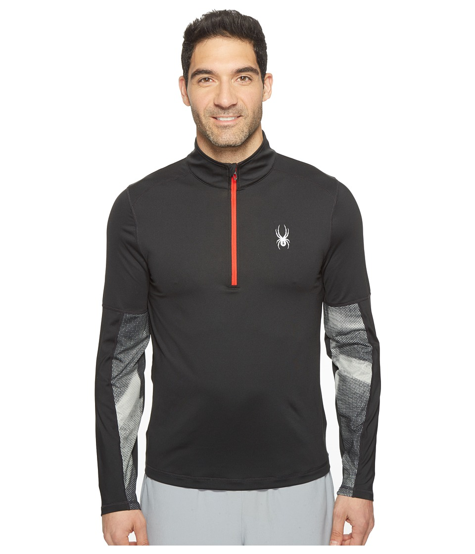 Spyder - Alps Tech 1/4 Zip Top (Black/Carbon Halftone) Men's Long Sleeve Pullover