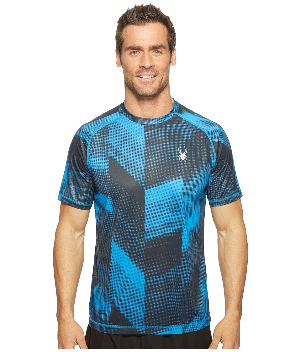 Spyder - Alps Short Sleeve Tech Tee (French Blue Halftone) Men's T Shirt