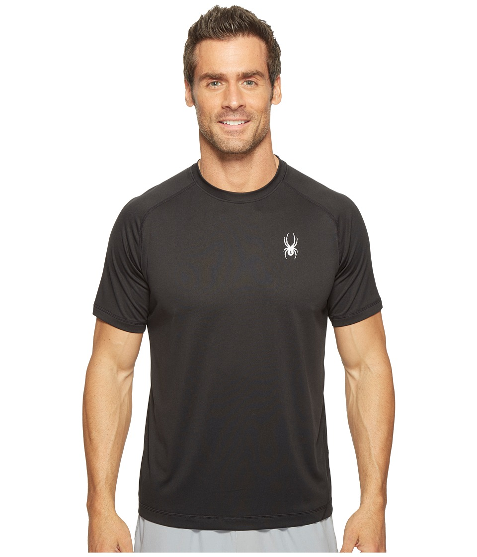 Spyder - Alps Short Sleeve Tech Tee (Black) Men's T Shirt