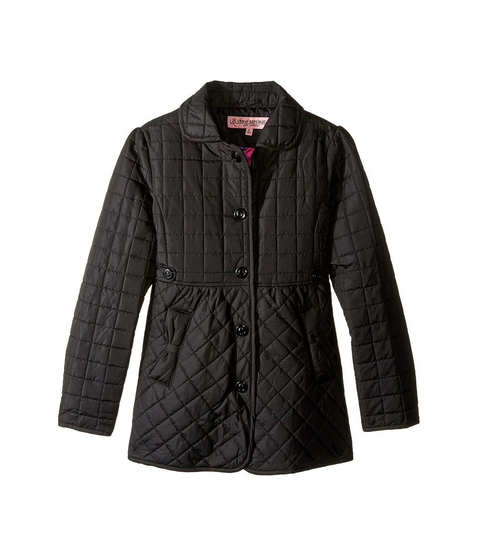 Urban Republic Kids - Quilted Thinfill Jacket (Little Kids/Big Kids) (Black 2) Girl's Coat