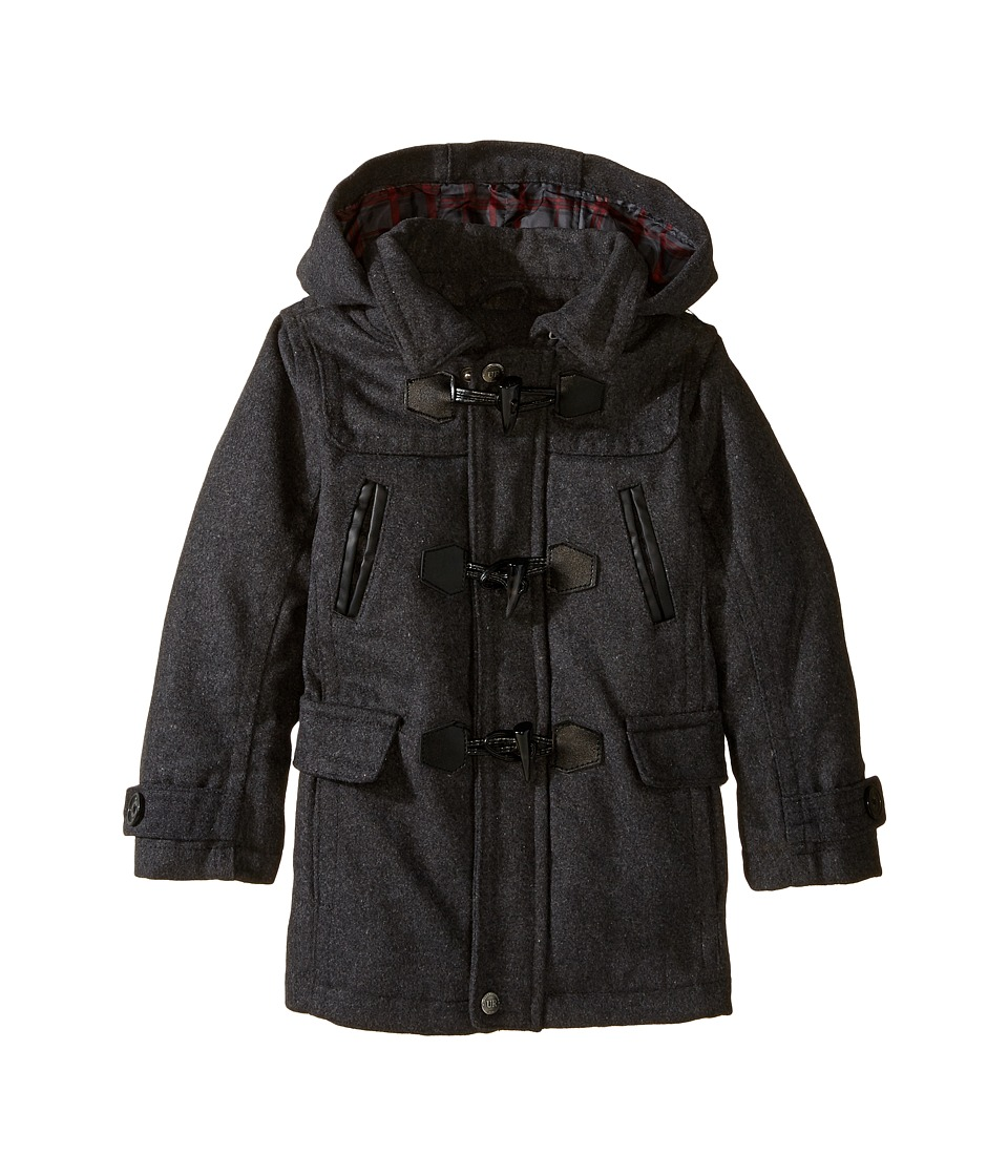 Urban Republic Kids - Classic Wool Toggle Coat (Infant/Toddler) (Charcoal) Boy's Coat