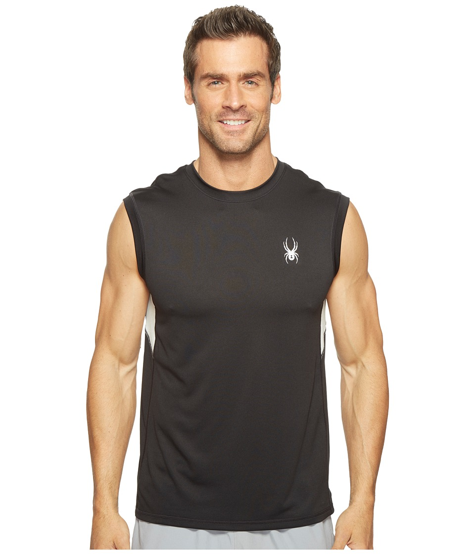 Spyder - Alps Sleeveless Tech Tee (Black/Cirrus) Men's Sleeveless