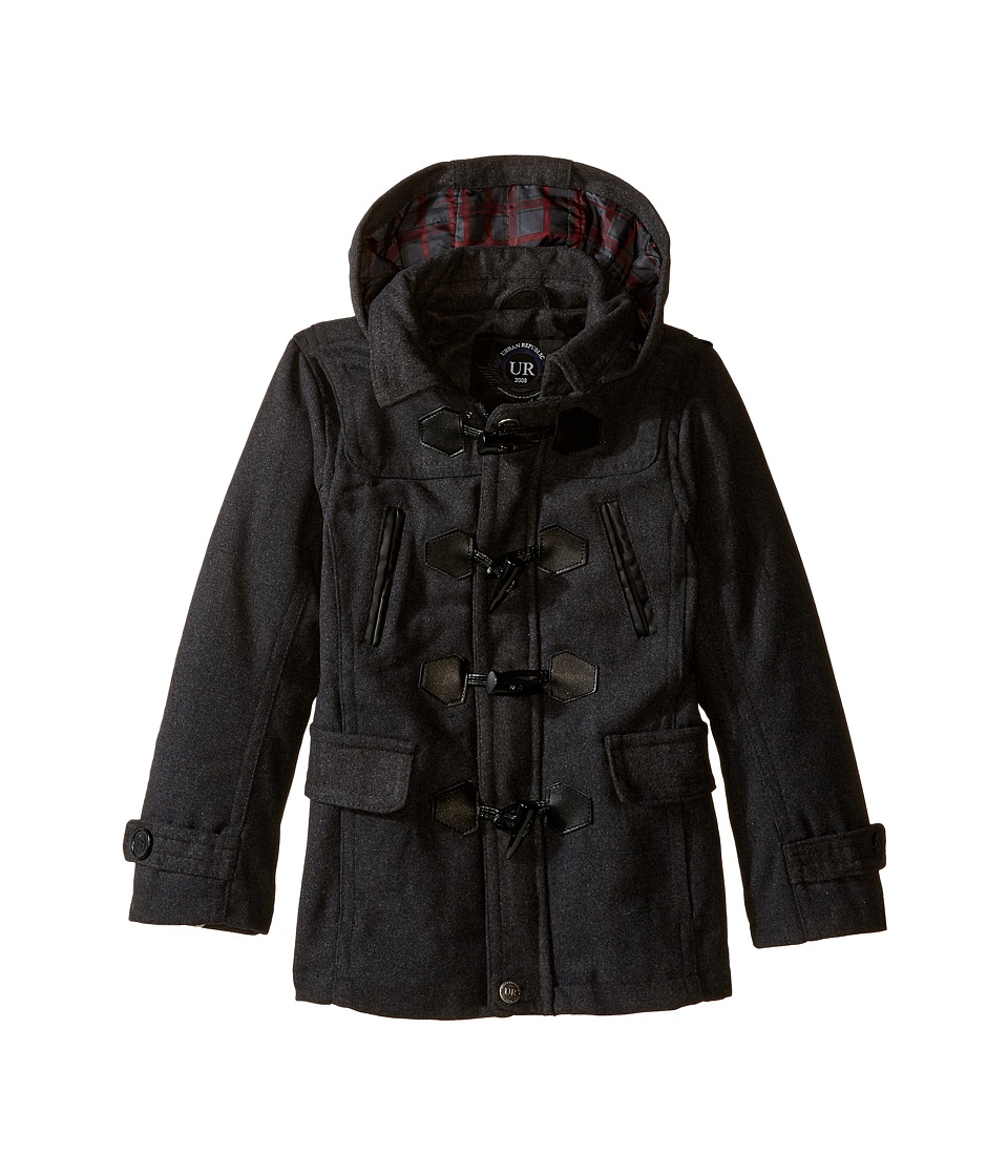 Urban Republic Kids Classic Wool Toggle Coat (Little Kids) (Charcoal) Boy
