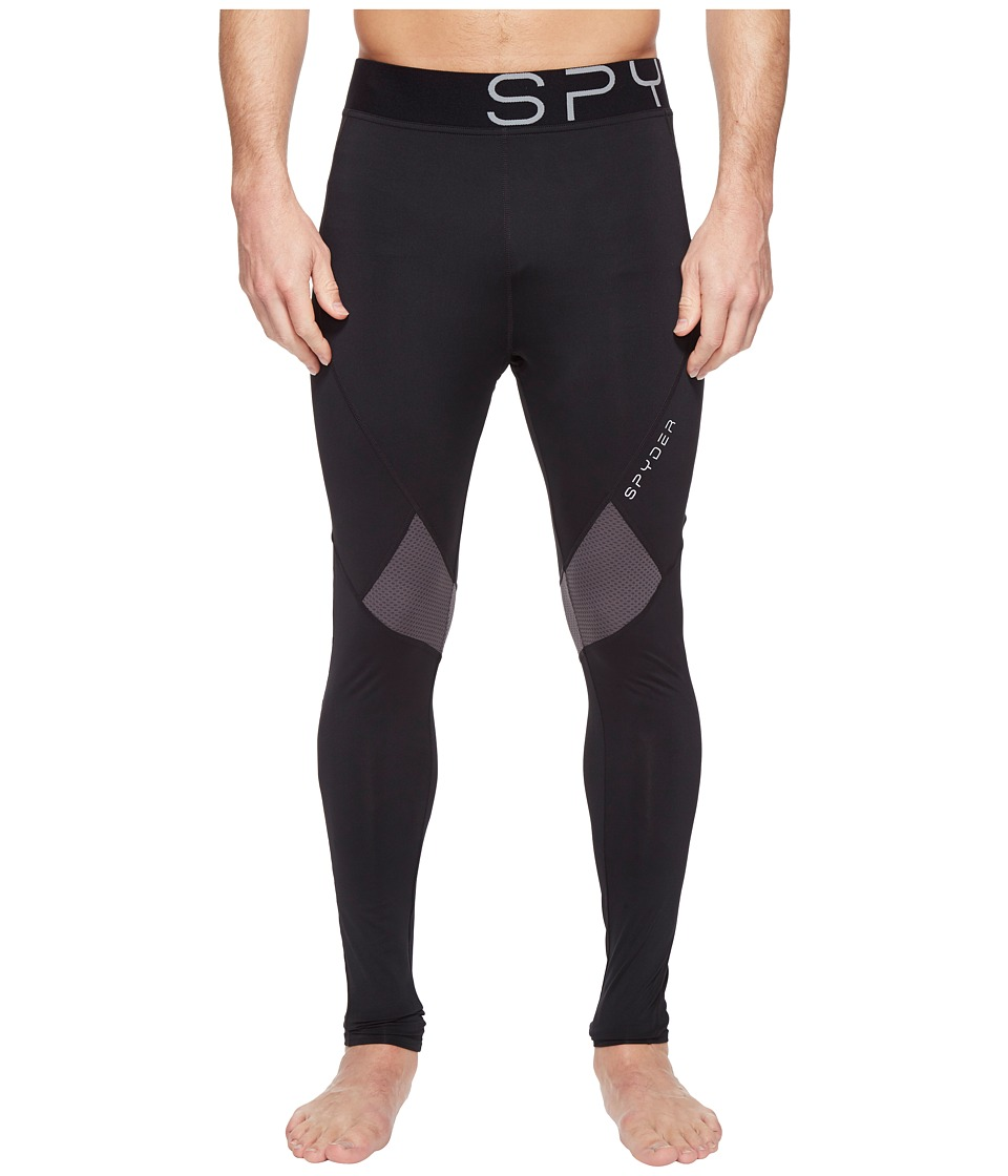 Spyder - Strabo Tights (Black/Polar) Men's Clothing