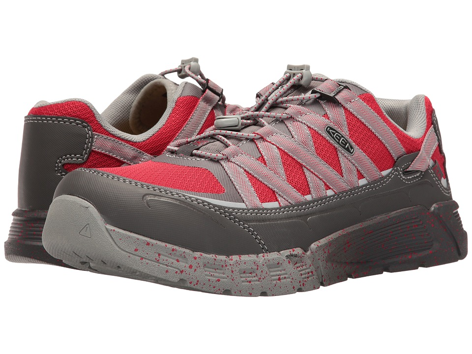 Keen Utility - Asheville AT ESD (Magnet/Racing Red) Men's Work Lace-up Boots