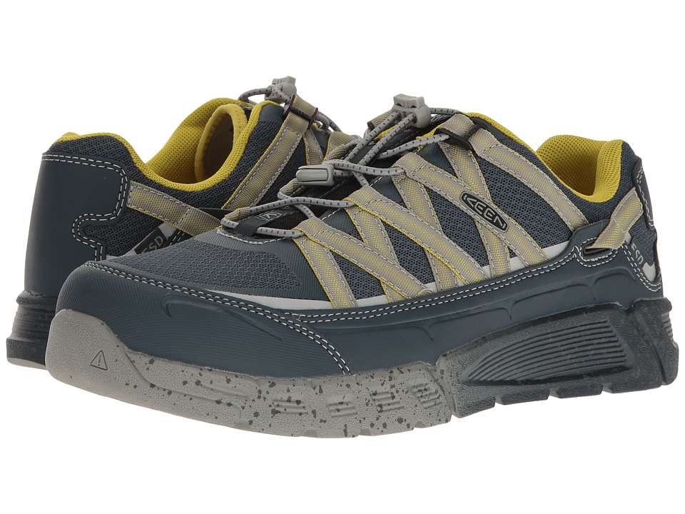 Keen Utility - Asheville AT ESD (Midnight Navy/Warm Olive) Men's Work Lace-up Boots