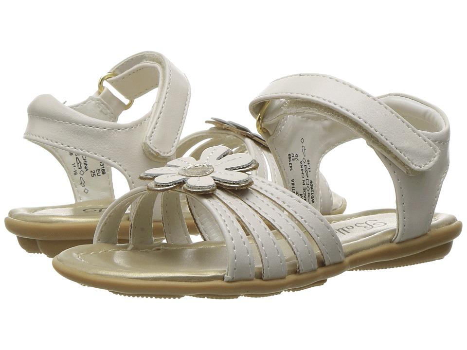 Jumping Jacks Kids Balleto Cynthia (Toddler/Little Kid/Big Kid) (Bone/Gold) Girls Shoes