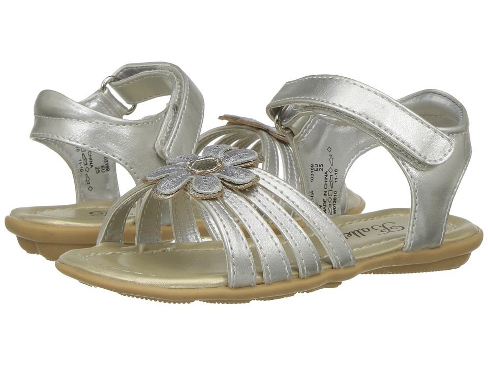 Jumping Jacks Kids - Balleto - Cynthia (Toddler/Little Kid/Big Kid) (Silver/Gold) Girls Shoes