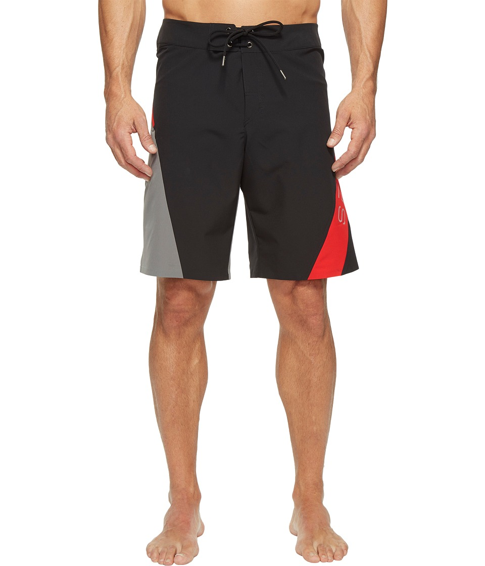 Spyder - Phenom Boardshorts (Black/Image/Red) Men's Swimwear