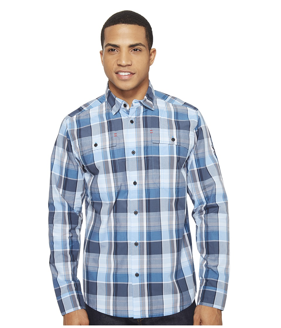 Spyder - Crucial Long Sleeve Button Down Shirt (French Blue Plaid) Men's Long Sleeve Button Up