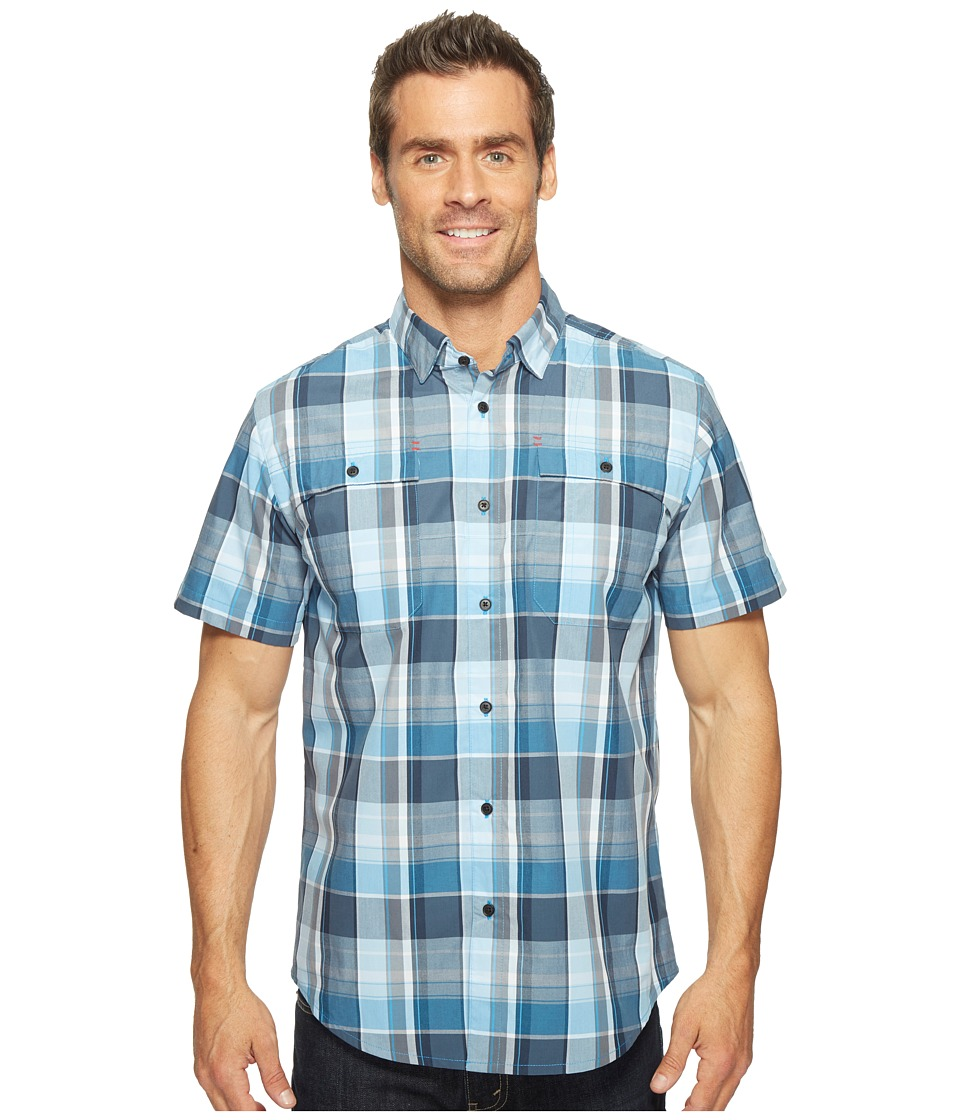 Spyder - Crucial Short Sleeve Button Down Shirt (French Blue Plaid) Men's Short Sleeve Button Up