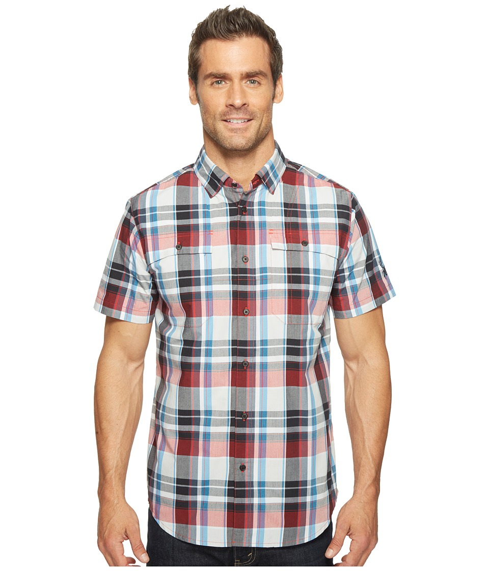 Spyder - Crucial Short Sleeve Button Down Shirt (Red Plaid) Men's Short Sleeve Button Up