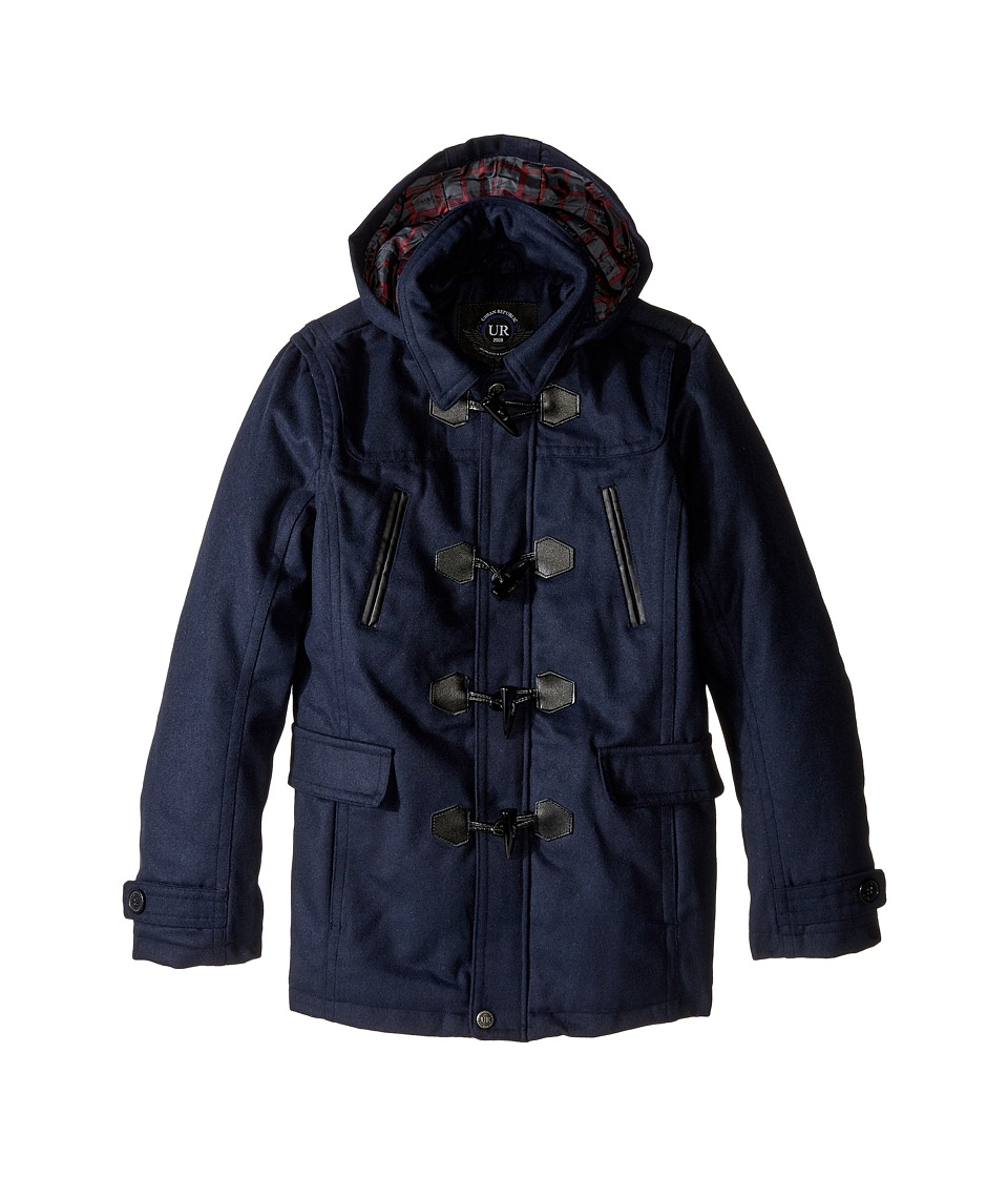 Urban Republic Kids - Classic Wool Toggle Coat (Big Kids) (Navy) Boy's Coat