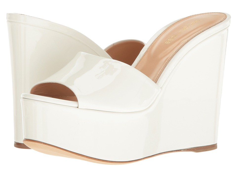 Sergio Rossi - Lakeesha (Bianco Patent) Women's Wedge Shoes