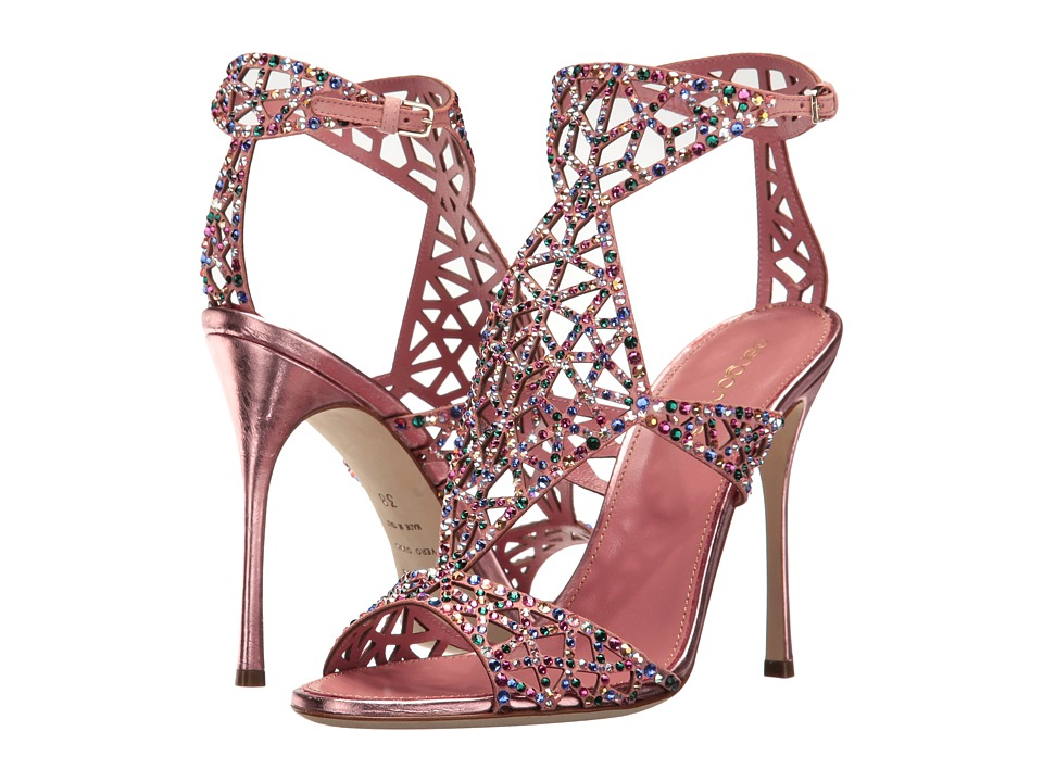 Sergio Rossi Tresor (Baby Rose Crash/Suede/Strass) High Heels