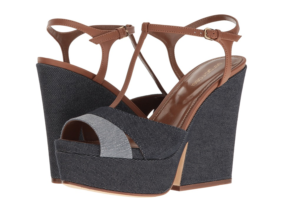 Sergio Rossi - Edwige (Denim) Women's Wedge Shoes