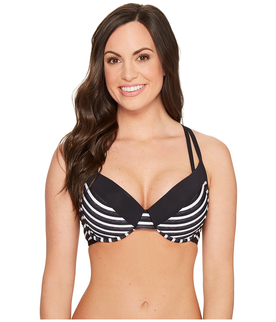 Lole Kapiti D-Cup Top Black Stripe Swimwear
