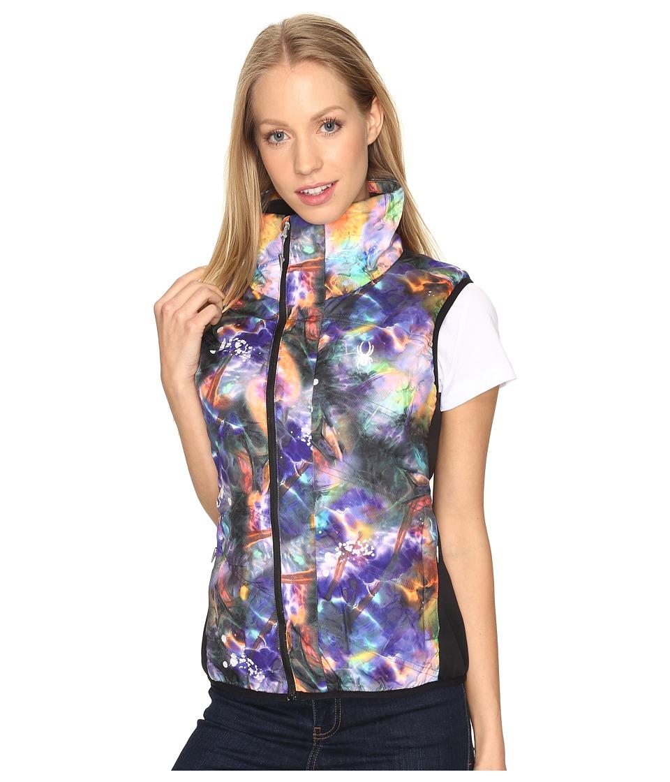 Spyder - Exit Insulator Vest (Tie-Dye Print/Black) Women's Vest