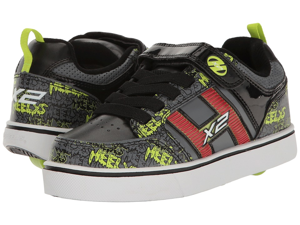 Heelys - Bolt Plus X2 (Little Kid/Big Kid) (Black/Grey/Bright Yellow) Boys Shoes