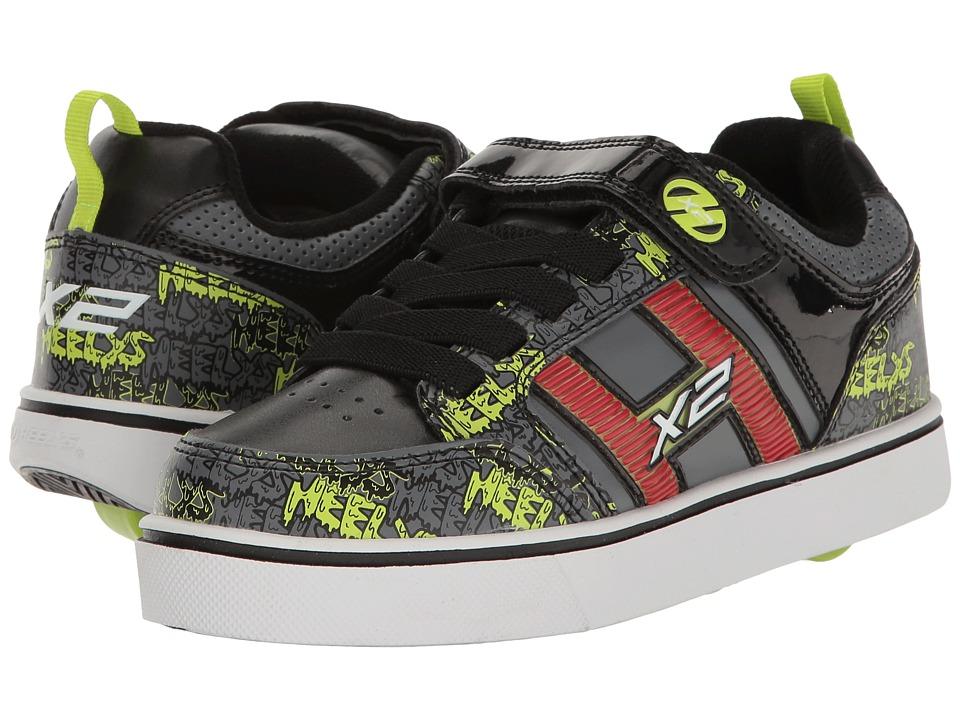 Heelys Bolt Plus X2 (Little Kid/Big Kid) (Black/Grey/Bright Yellow) Boys Shoes