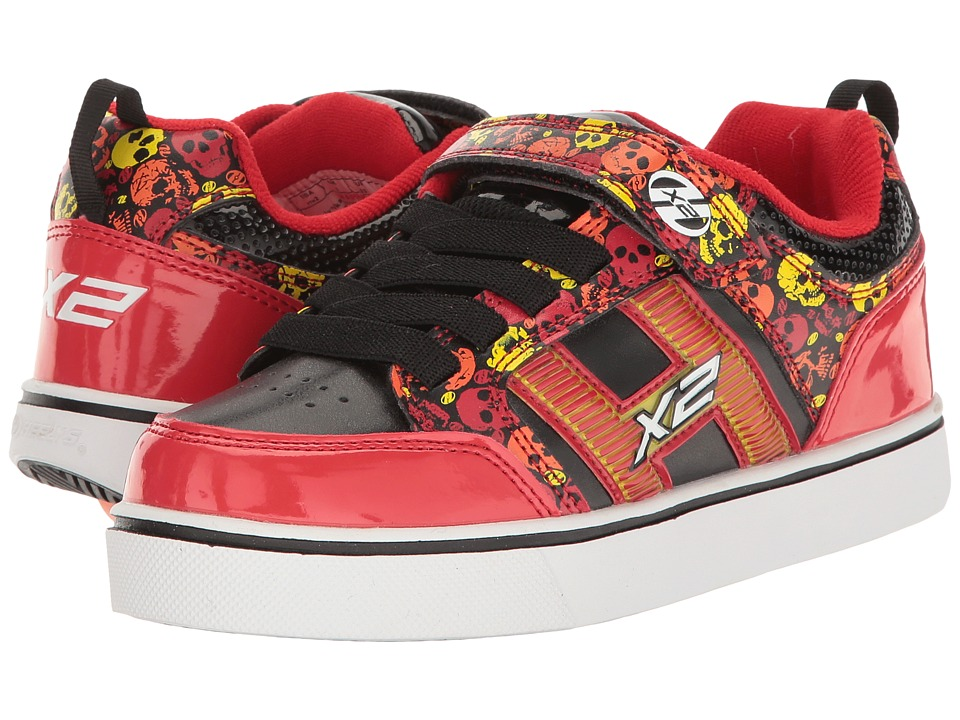 Heelys - Bolt Plus X2 (Little Kid/Big Kid) (Red/Black/Yellow/Skulls) Boys Shoes