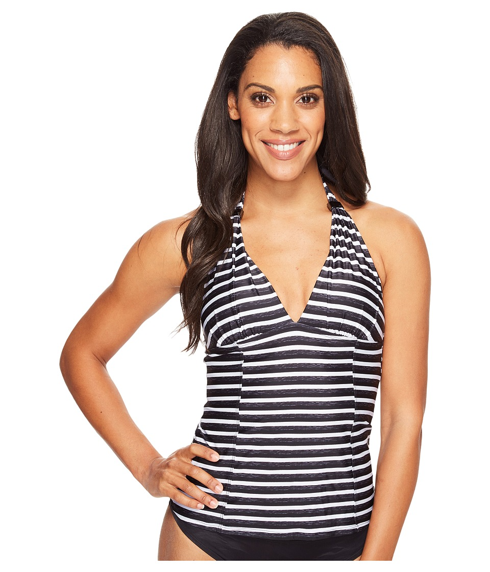 Lole - Jamaique Tankini (Black Stripe) Women's Swimwear