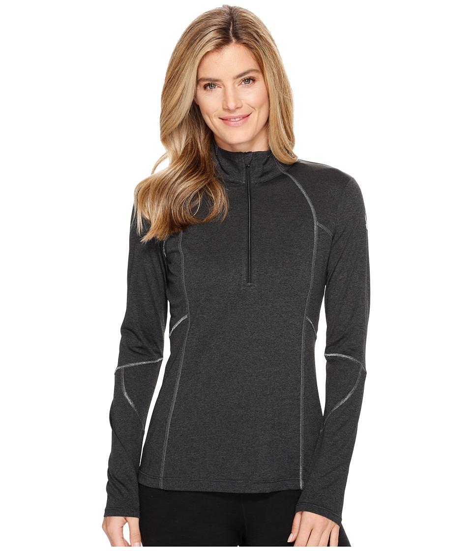 Spyder - Aura Tech T-Neck Top (Black) Women's Long Sleeve Pullover