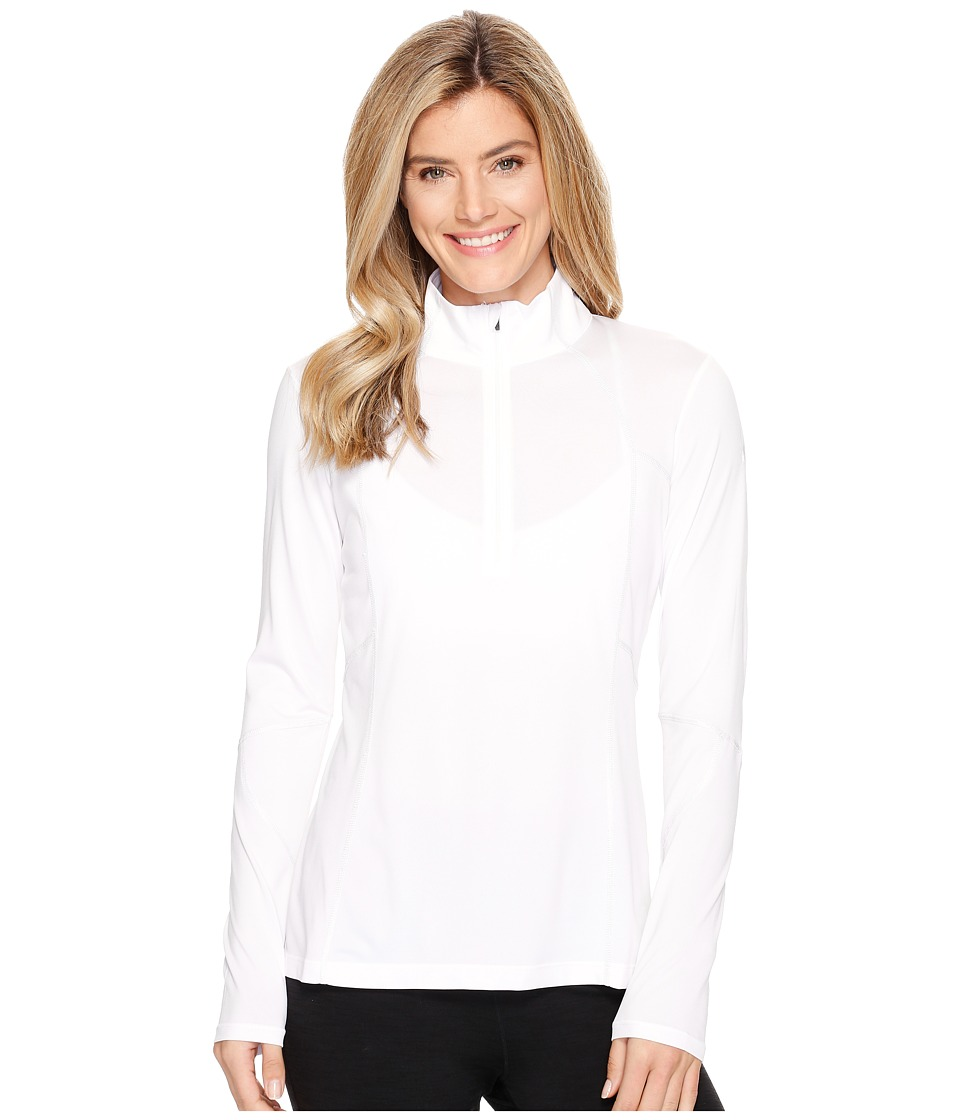 Spyder - Aura Tech T-Neck Top (White) Women's Long Sleeve Pullover