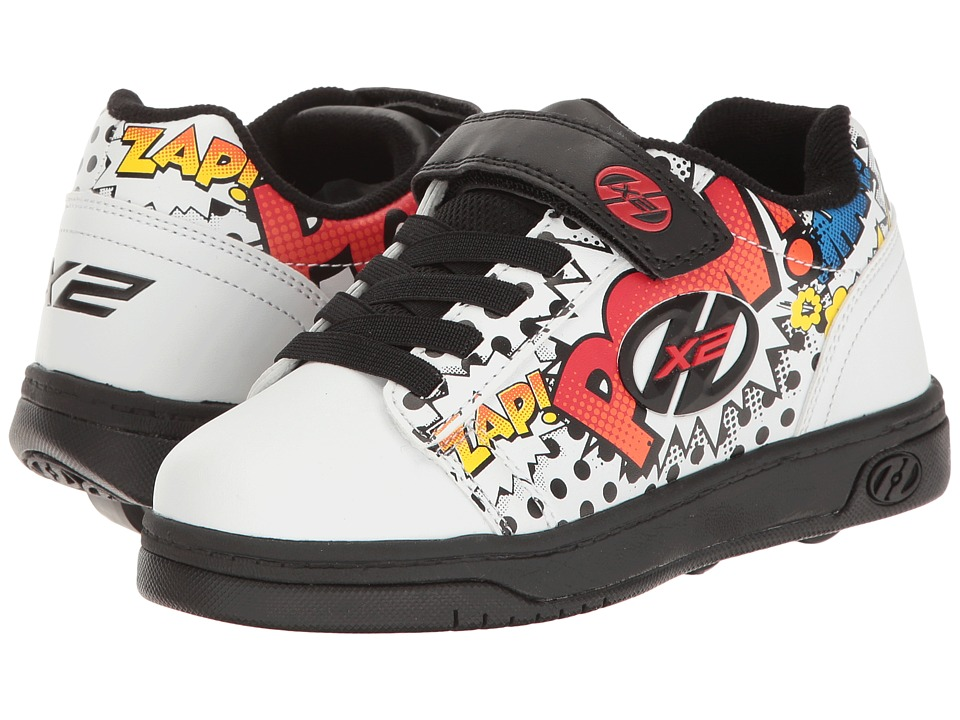 Heelys - Dual Up X2 (Little Kid/Big Kid/Adult) (White/Black/Multi Comic) Boys Shoes